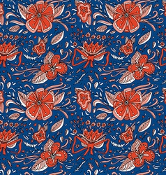 Elegance floral seamless pattern Flowers and vector image vector image