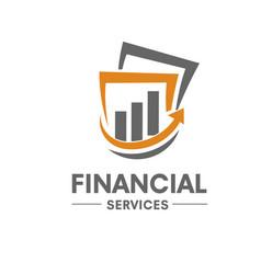 Financial service logo vector