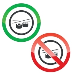 Sushi permission signs vector image