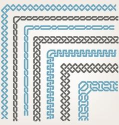 Decorative seamless Islamic ornamental border with vector image