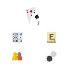 flat icon entertainment set of mahjong people x vector image vector image