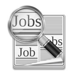 Job search concept vector image