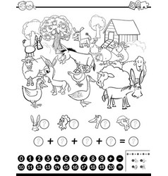 mathematical game for coloring vector image vector image