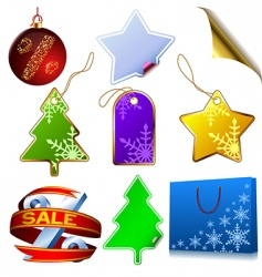 winter sale set vector image vector image
