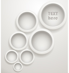 Abstract background of grey circles vector image vector image