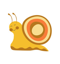 Adorable snail with colorful shell and long vector