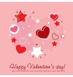 Cute Valentine love congratulation card vector image vector image