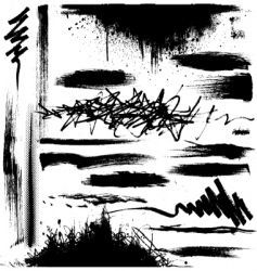 grunge strokes vector image