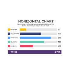 horizontal chart infographic element vector image vector image