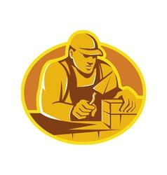 mason brick layer construction worker vector image vector image