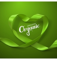 Organic Grocery Sign vector image vector image