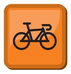 Bicycle icon - bike icon vector image vector image