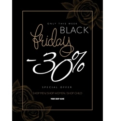 black friday advertising vector image vector image
