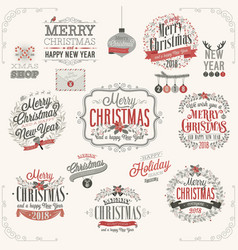 christmas set - labels vector image vector image