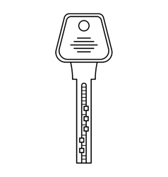 Door key isolated on white background Flat icon vector image