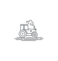 farm tractor line icon outline of vector image vector image