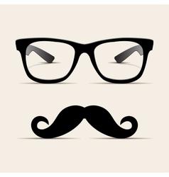 Hipster glasses Hipsta man vector image