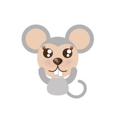 kawaii mouse animal toy vector image vector image
