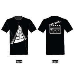 t-shirt with film tape vector image