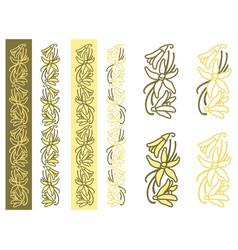 Vanilla plant simple ornament vector