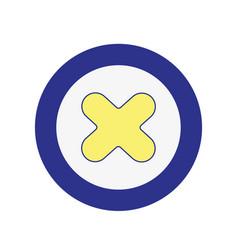 x network symbol to web connection vector image