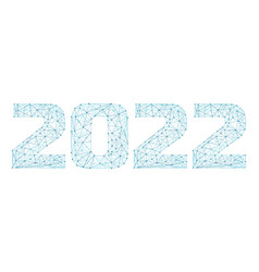 2022 year triangle 3d digital web banner vector image