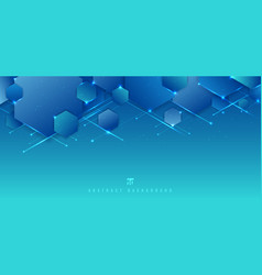 abstract blue background geometric hexagon vector image