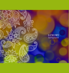 Abstract oriental floral ornament in indian mehndi vector