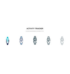Activity tracker icon in different style two vector