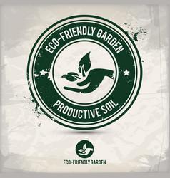 alternative eco friendly garden stamp vector image