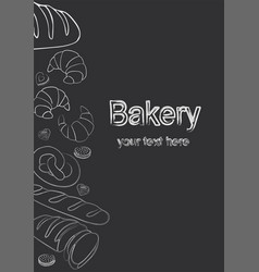 bakery background linear graphic bread and vector image