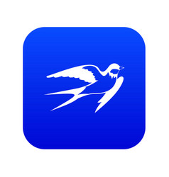 Barn swallow icon digital blue vector