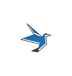 bird logo icon graphic template vector image