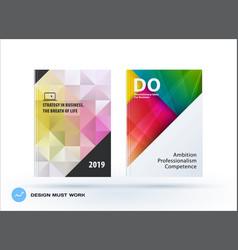 business polygonal set of design brochure vector image