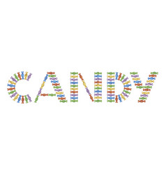 candies as text vector image