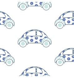 car cute pattern vector image