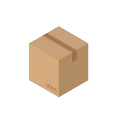 cardboard box closed isolated containers for vector image