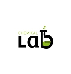 Chemical lab logo letter b as a glass bulbs vector