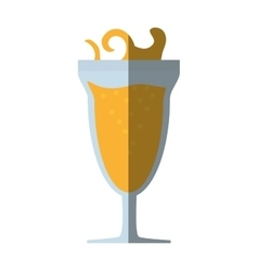 Cocktail mimosa drink celebration shadow vector