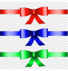 color bow knot vector image
