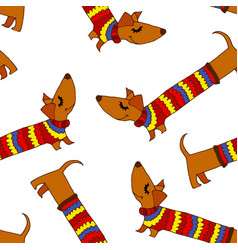 Colored dog background vector