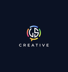 Creative chat initial letters ls logo vector