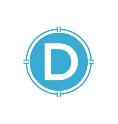 D letter logo simple minimalist design vector