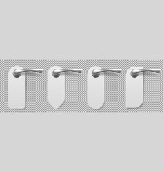 door handles with hangers different shapes vector image