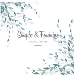 feminine and simple leave background vector image