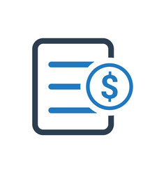 financial document icon vector image