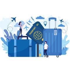 flat travel prepare vector image