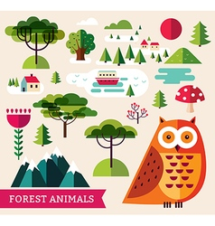 Forest collection - Owl vector image