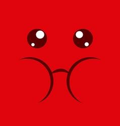 Fun expression facial vector