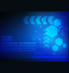 geometric technology pattern blue background vector image